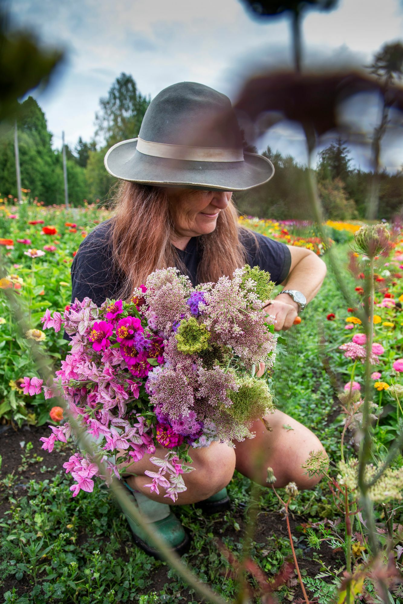 """""""Ecology is reflected in everything we do.  We also get joy from lost flowers when we dry and shred them into colorful confetti, which can be thrown on top of the wedding couple, """"says Hannele Ruoti."""