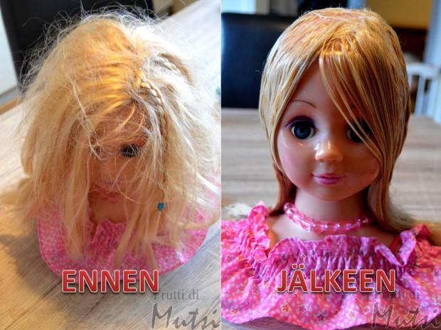 Ennen ja jälkeen nuken lettipää