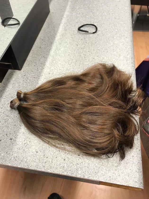 hiusten lahjoitus