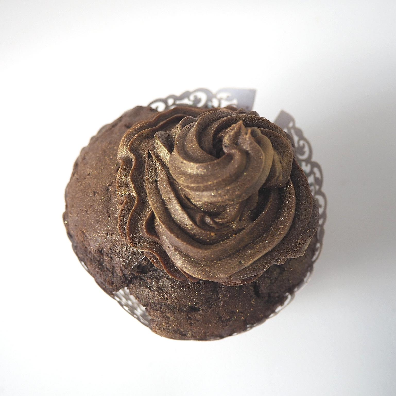 suklaa kuppikakku mokkakuorrutteella