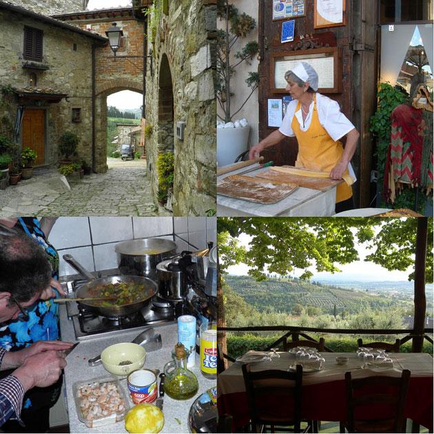 Toscanan kauniissa maisemissa syntyy yksinkertaisen herkullista ruokaa