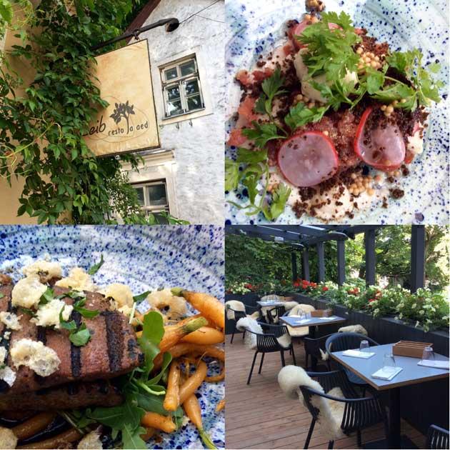 Kuvia ravintola Leibistä ja sen ruoka-annoksista Tallinnassa