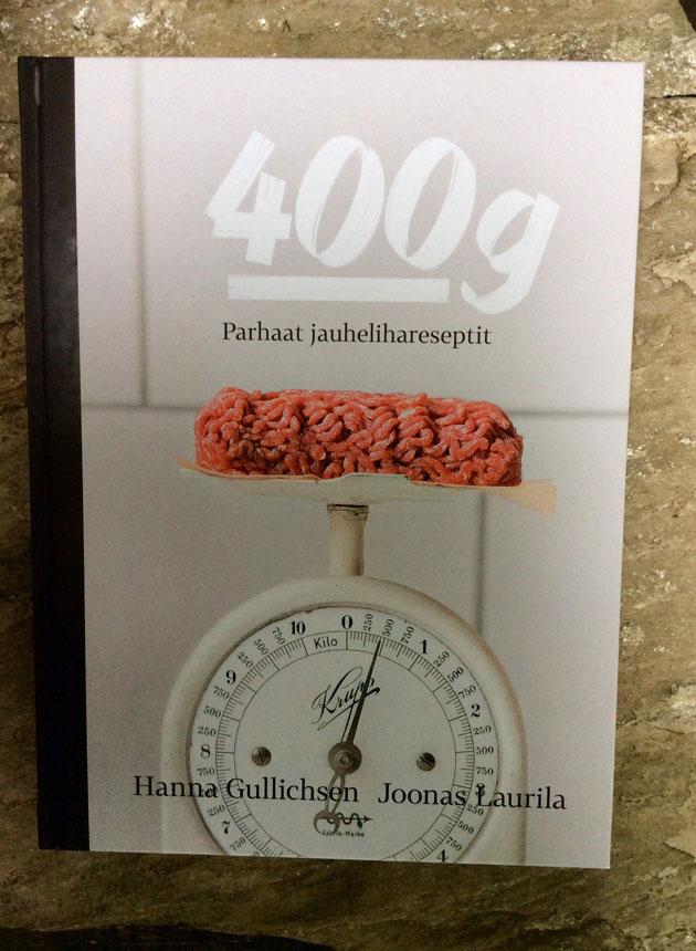 400 g -kirjan kansi