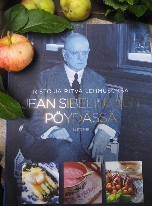 Jean Sibeliuksen pöydässä -kirjan kansi