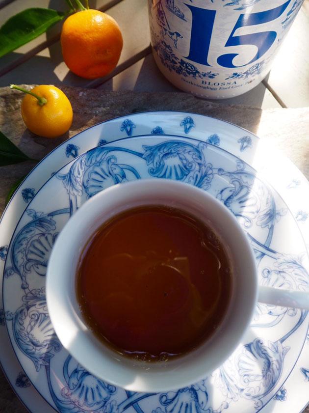 Teetä ja Blossan teellä maustettua glögiä