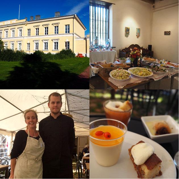 Tsavernan omistaja Theresa Nordlund ja keittiömestari Jouni Kauhanen pistivät Skördefesteissä parastaan. Ja se niin maistui kuin tuntui!