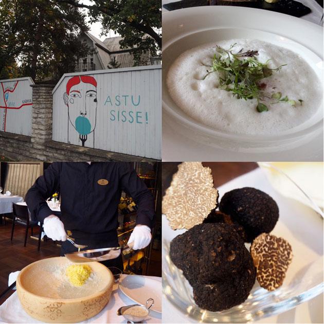 Virolaisista ravintoloista löytyy modernia ruokaa ja luksusherkkuja, kuten tryffeleitä