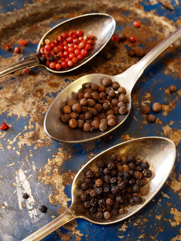 rosee-, mauste- ja mustapippurit