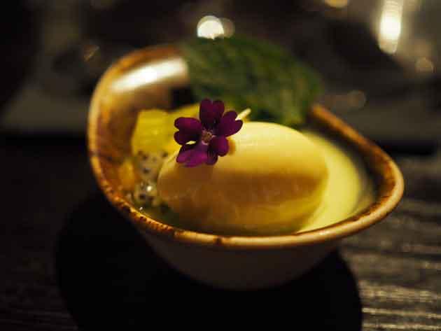 Masu Asian Bistron Matcha pannacotta