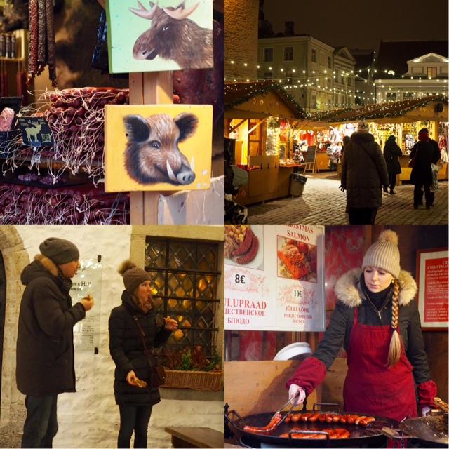 Herkutelua Tallinnan joulutorilla
