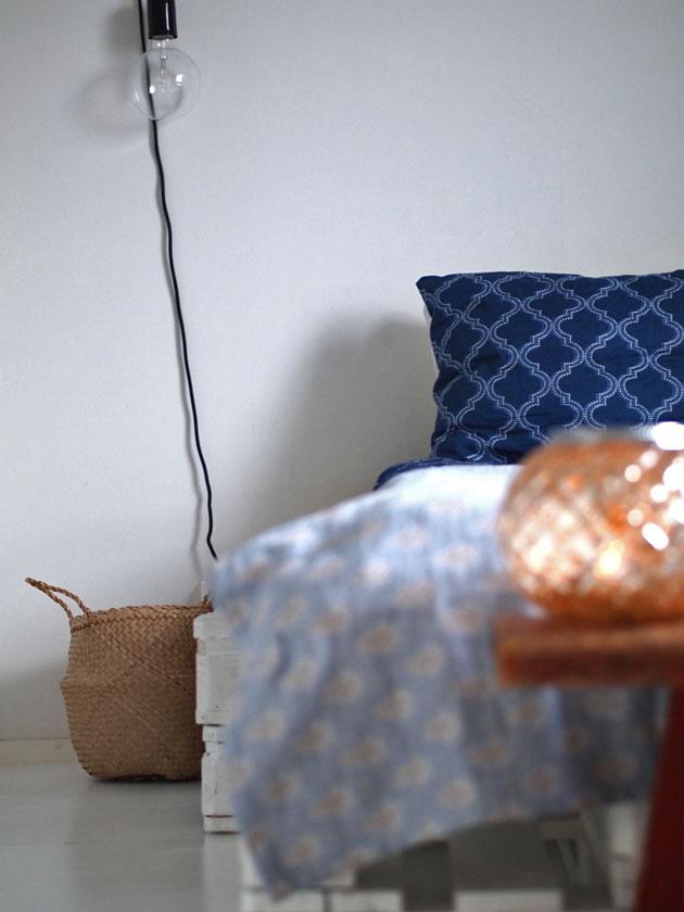 makuuhuoneen marokkolainen sisustus