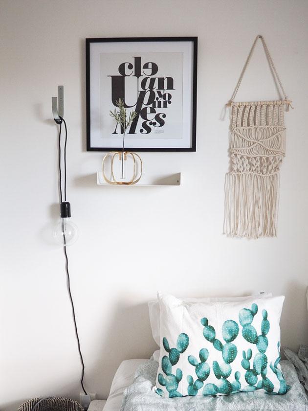 makuuhuoneen moderni seinämakrami