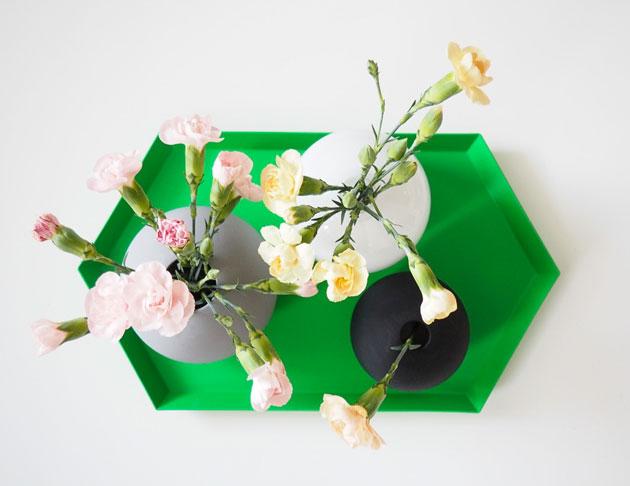 olohuoneen kukka-asetelma