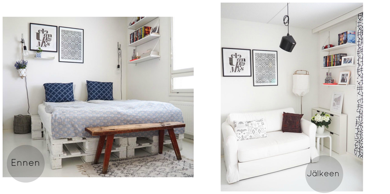 vierashuone ennen ja jälkeen kuvat