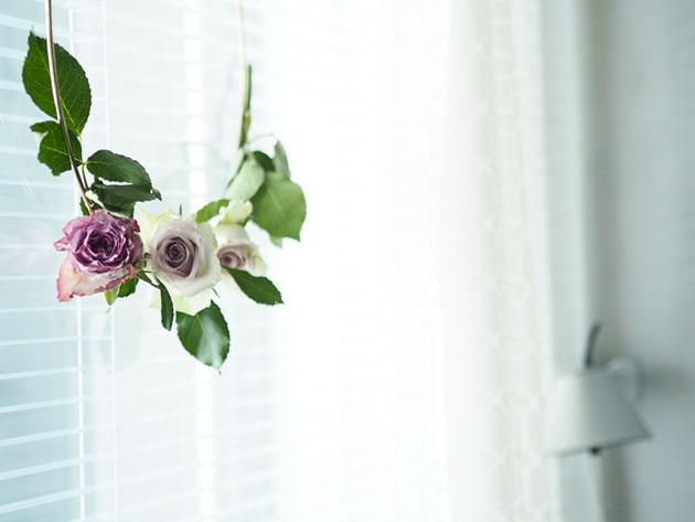 diy ruusukranssi ikkunaan