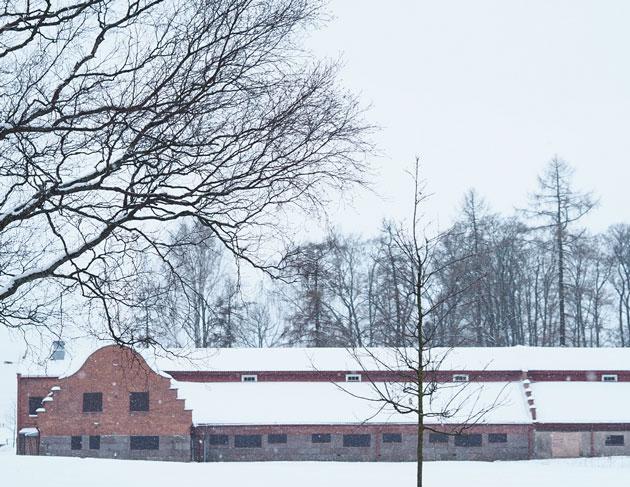 talvinen maisemakuvaus kartanoympäristössä