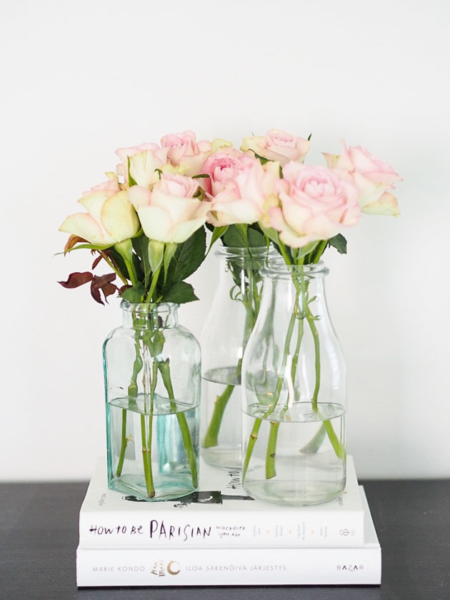 helppo ja kaunis kukka-asetelma