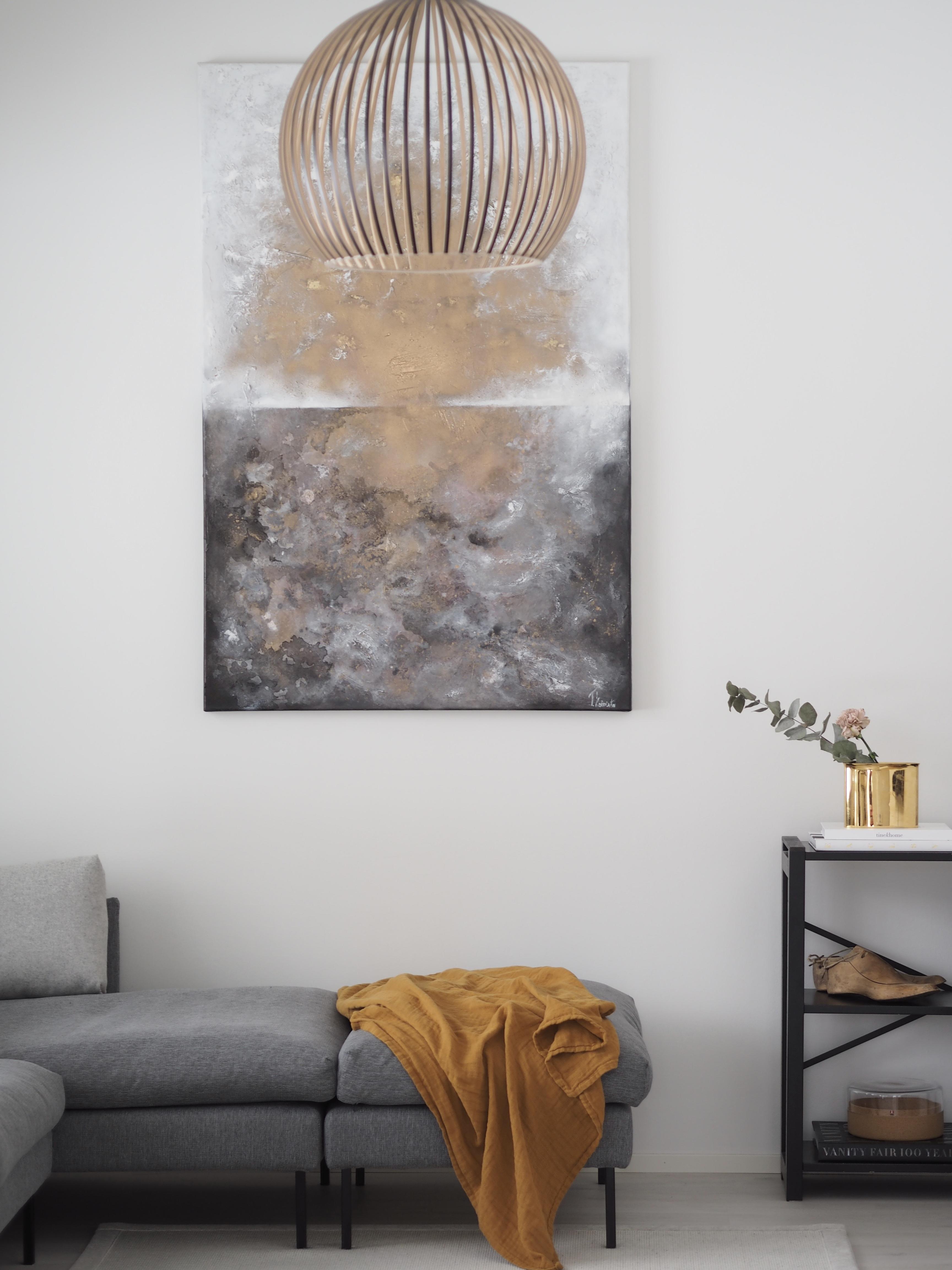 taide olohuoneessa