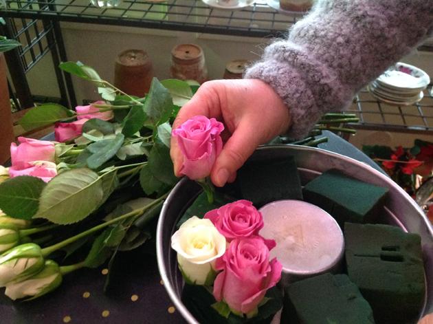 ruusuja kranssiin
