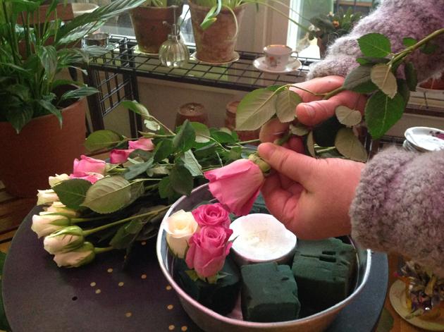 ruusujen leikkaaminen