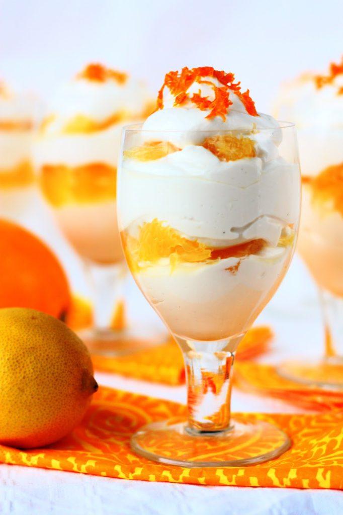 Helppo ja nopea ja herkullinen sitruunamousse appelsiinilla