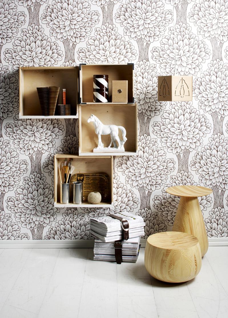 Kuva - Tee itse puinen seinähyllykkö