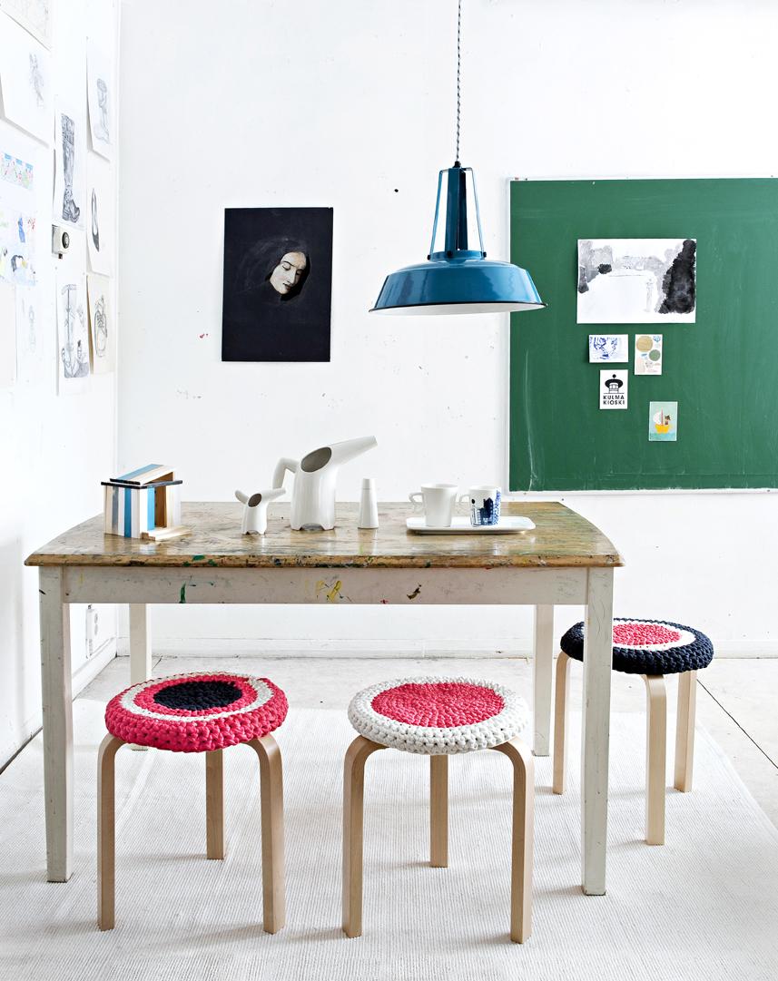 Kuva - Tee itse virkatut tuolinpäälliset