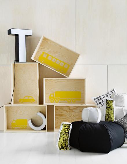 Kuva - Tee itse kirjahylly puulaatikoista