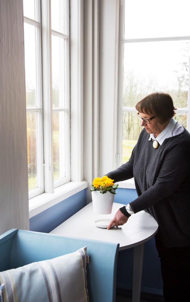 Kasvit ja kukat ovat Hanna Nurmiselle tärkeitä.
