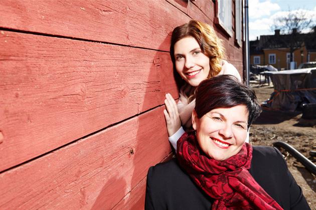 Sari Kaasinen ja tytär Kiisa