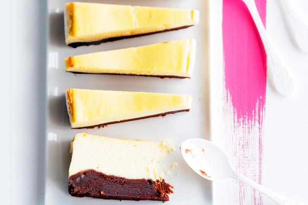 kahden suklaan juustokakku