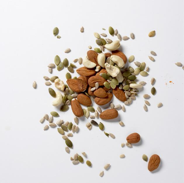 Pähkinöitä ja siemeniä