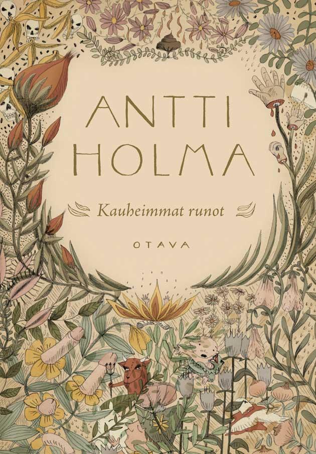 Antti Holma Kauheimmat runot -kirjan kansi