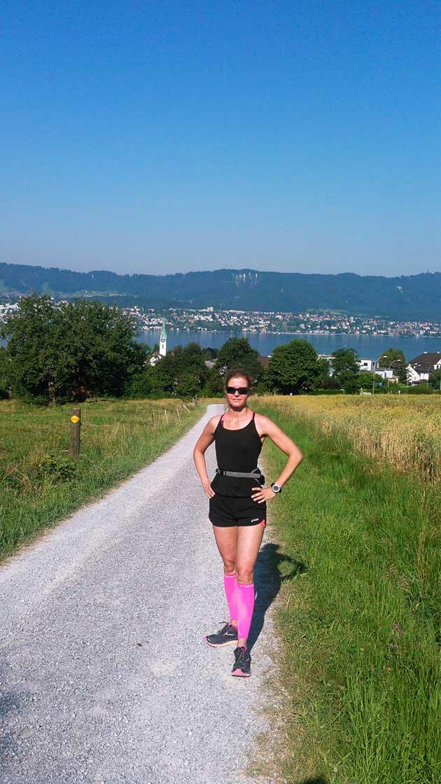 Liisa Helve-Sibaja lenkillä