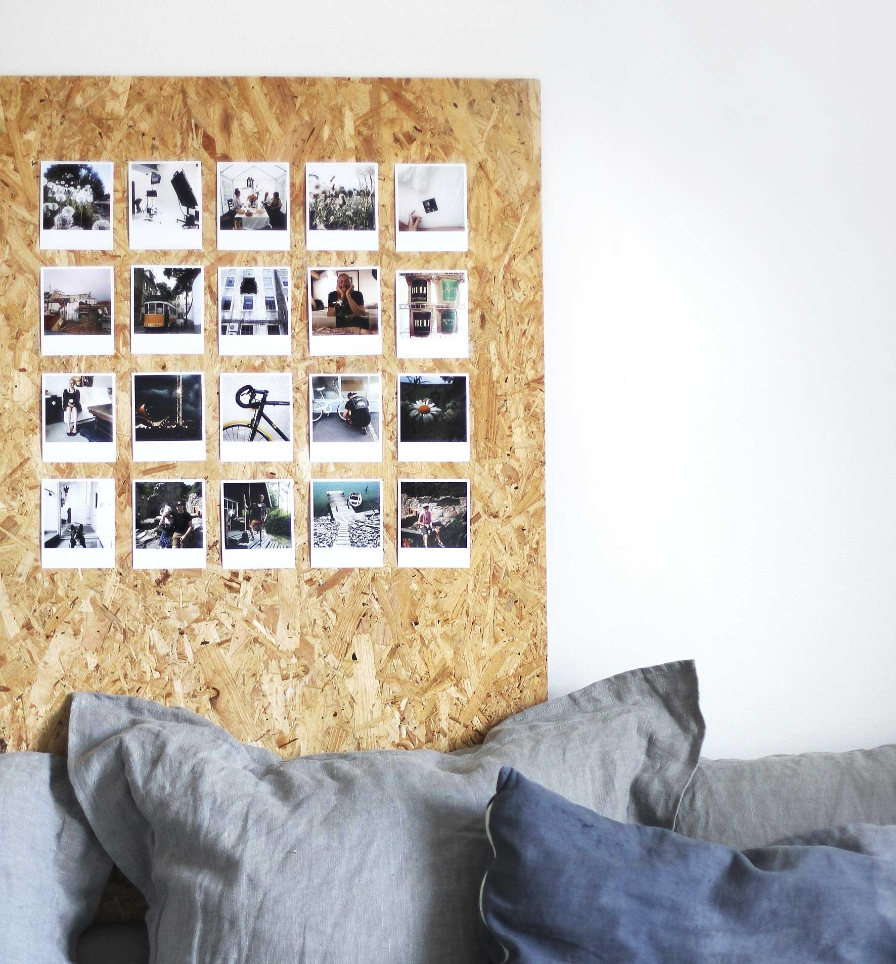 Instagra,-kuvista tehty taulu