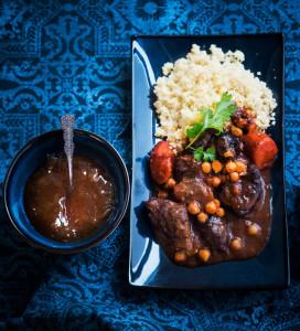 Marokkolaista lihapataa ja couscousia