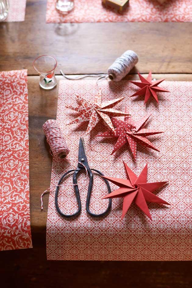 paperitähti, taittelu, taitteluohje, joulutähti