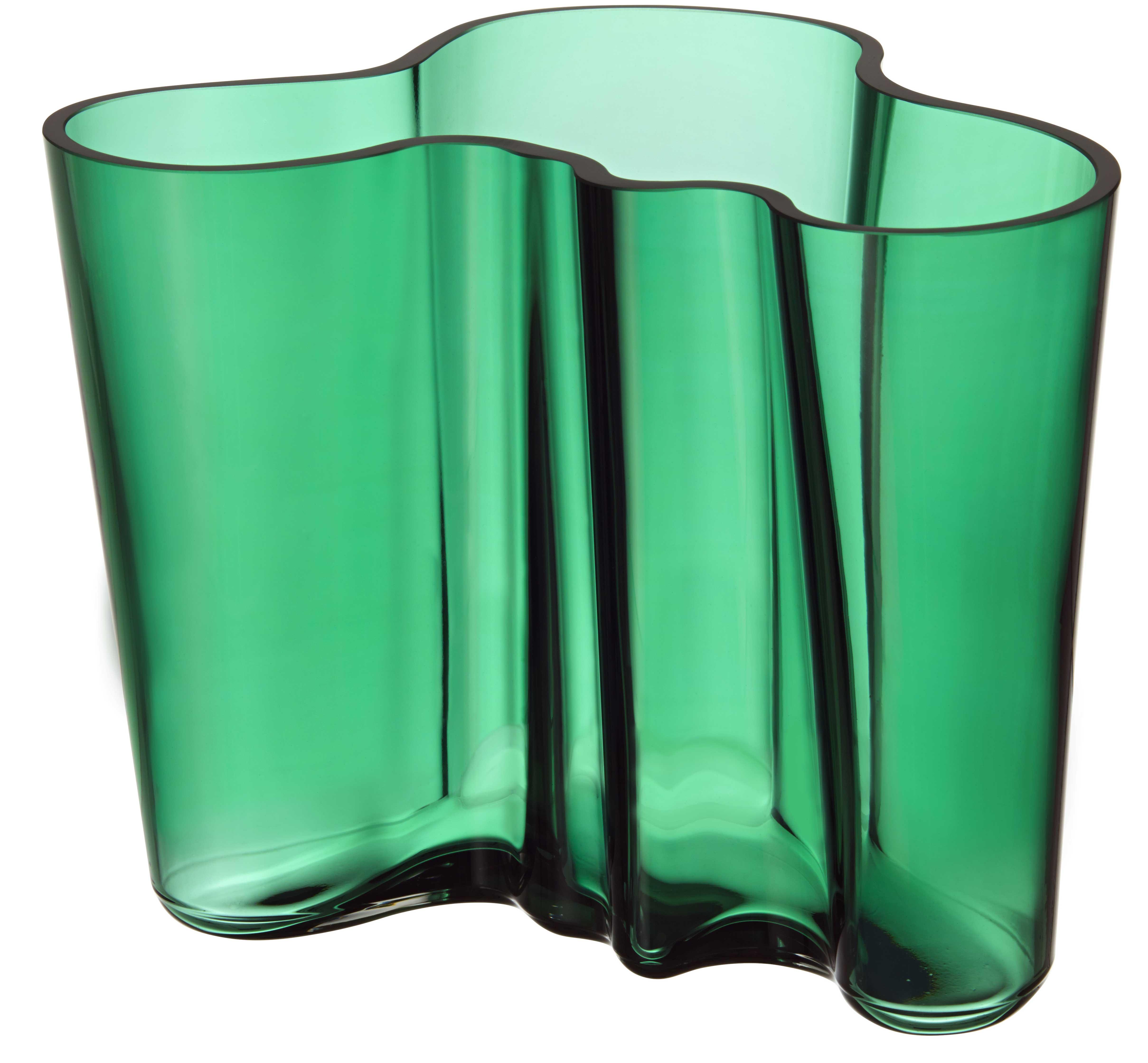 Vihreä Aalto-maljakko