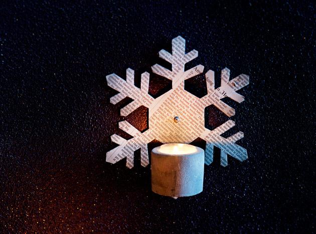 Tee itse joulukynttilälle tähtilampetti