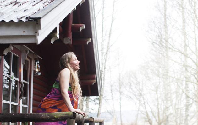 Kotiliesi, Onnen hetket-juttu, saunominen, Heli Iivari