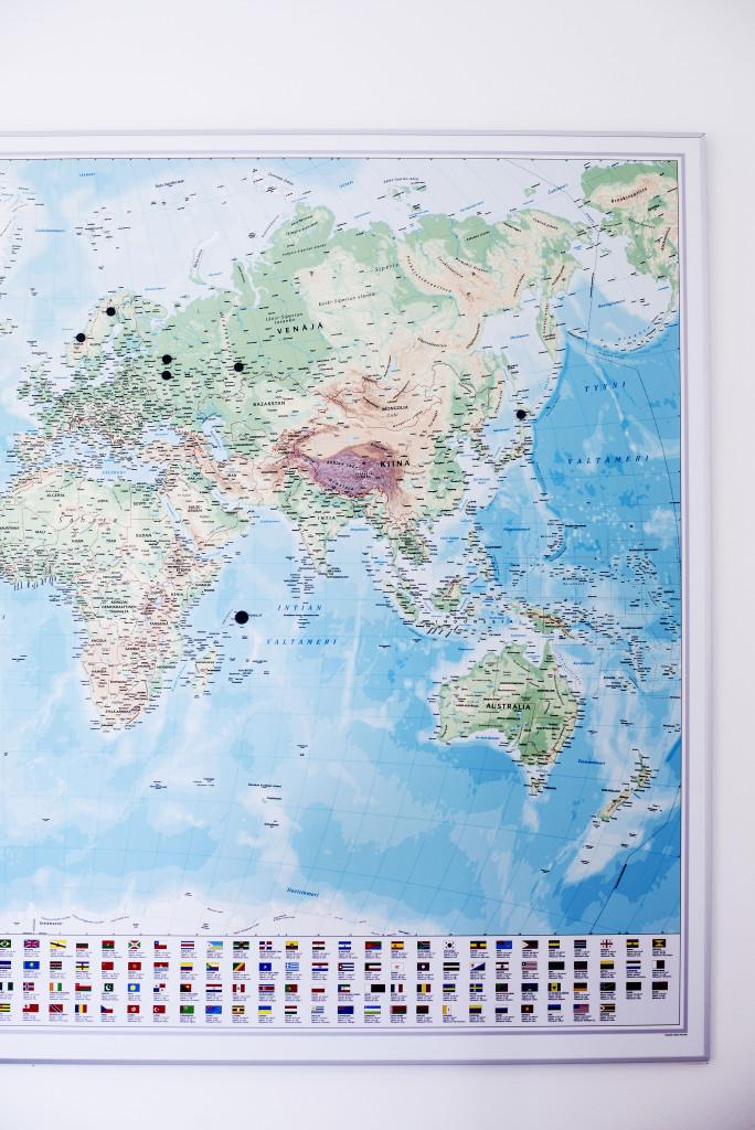 Anna-Kaisa Saarinen maailmankartta