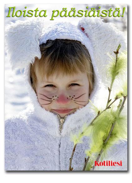 Lähetä hauska Iloista pääsiäistä -pupukortti sähköisesti!
