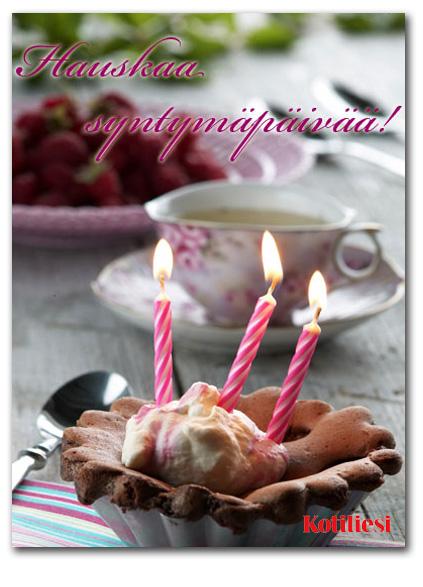 Hauskaa syntymäpäivää! Onnittele leivosaiheisella e-kortilla ystävääsi!
