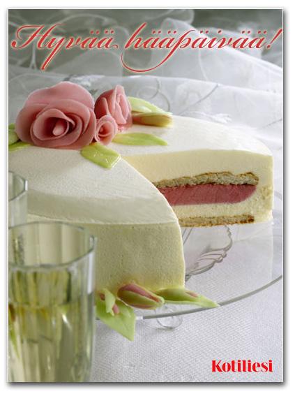 Lähetä rakkaallesi Hyvää hääpäivää -onnittelukortti sähköisesti!