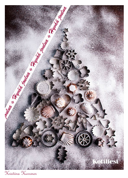 Joulukuusi piparkakkumuoteista! Lähetä Hyvää joulua -tervehdys Kotilieden e-kortilla!