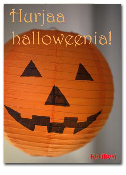 Hurjaa halloweenia! Lähetä e-kortti, jossa halloween aiheinen paperilyhty