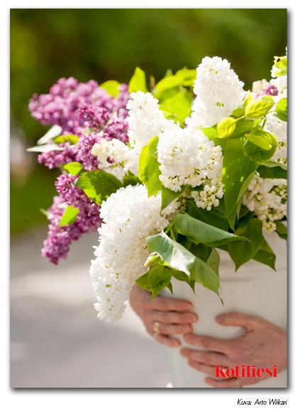 E-kortti ihanalla kukkakimpulla