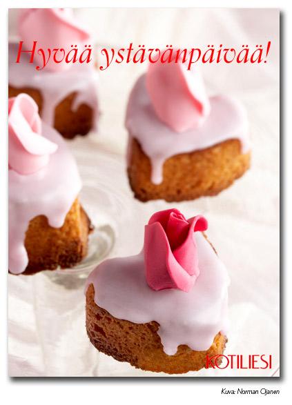 Lähetä Kotilieden Hyvää ystävänpäivää -leivoskortti e-korttina