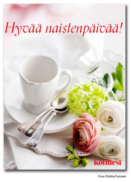 Lähetä Hyvää naistenpäivää! -kortti sähköisenä e-korttina
