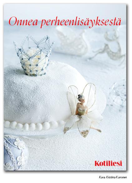 Lähetä keijuaiheinen Onnea perheenlisäyksestä -kortti e-korttina